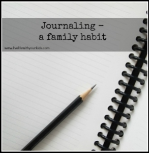 journaling a family habit