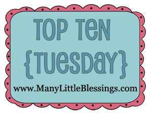 top 10 ten tuesday link