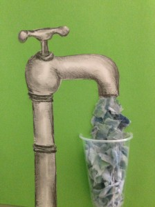 We need to drink more water - art by Naomi