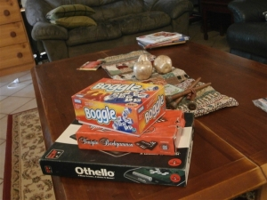 Keeping a few games on the coffee table encourages us all to snatch a moment to play