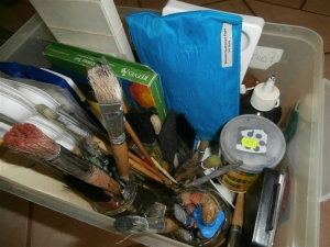 All painting supplies in one box