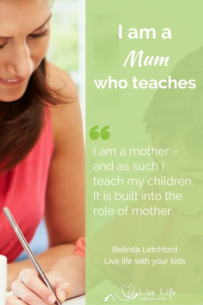I am a mum who teaches, not a teacher who is a mum.