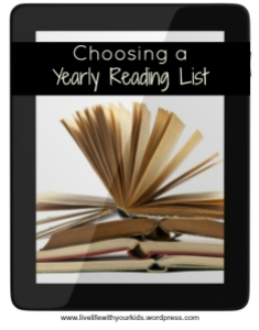 choosing a yearly reading list