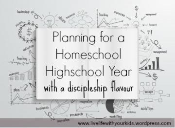 planning for a highschool homeschool year