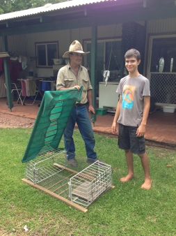 Daniel built a chicken coop resourcefulness