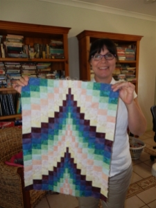 1/2 my patchwork table runner