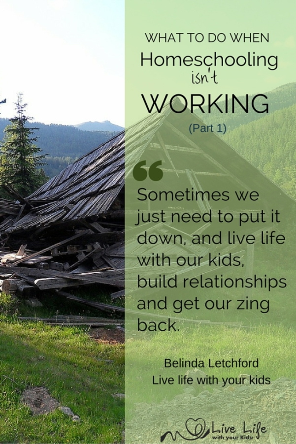 What to do when homeschooling isn't working - part 1.