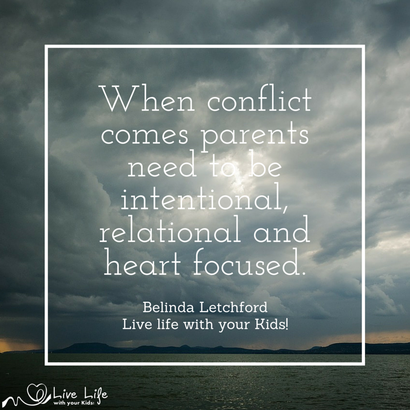Always stay heart focused - even in conflict.
