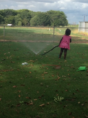 water play on the lawn.