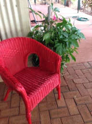 Renovated red chair