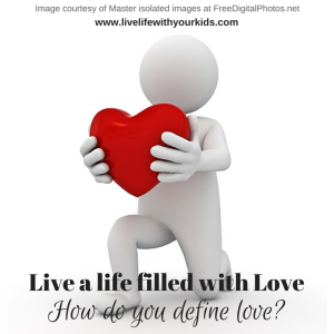 live a life filled with love, one word, GIVE