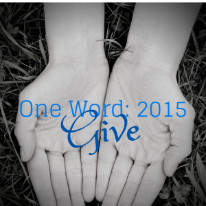 One word Give