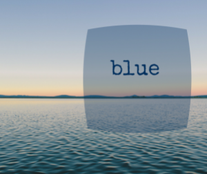5 Minute Friday prompt: Blue