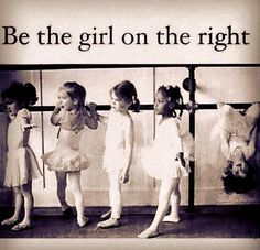 Be the girl on the right meme.