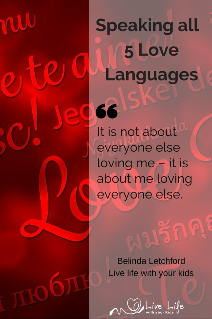 It is important to speak all five love languages not just our own.