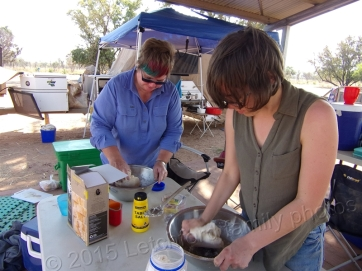 Home Valley camping - making bread