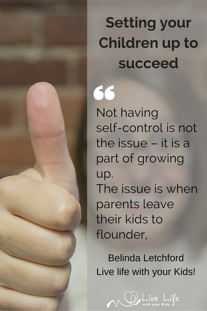 Parents can set their children up to succeed.